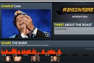 "Experimento de redes sociales alrededor de un show de TV – Comedy Central's ""Charlie Sheen Roast"""