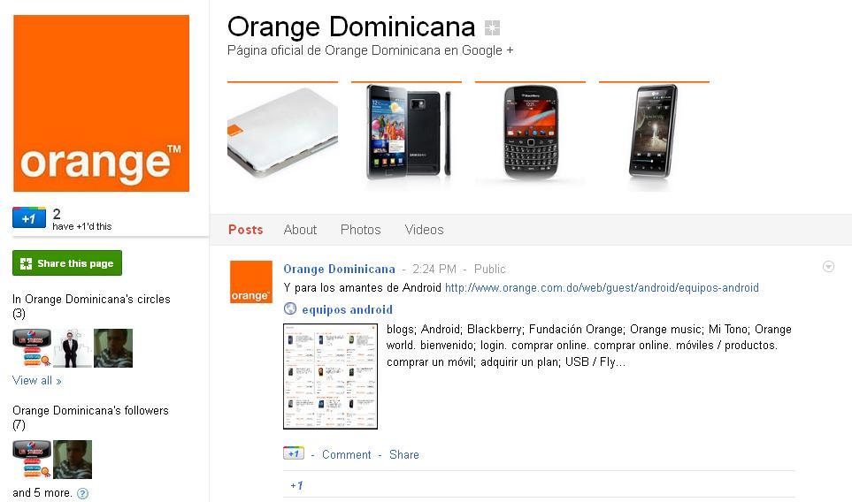 Orange-Dominicana-en-Google-+