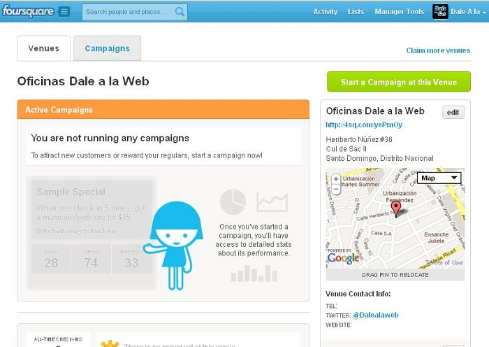 pagina-manager-tools-en-foursquare