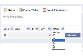 Cómo programar una publicación en tu página de fans o empresa en Facebook