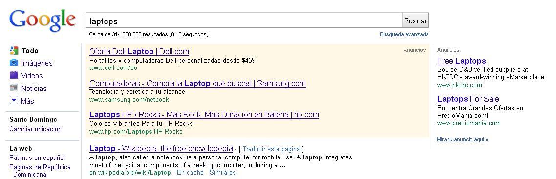 Ejemplo SEM - laptops