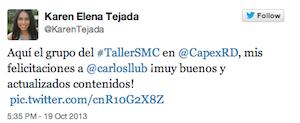 Testimonio-Karen-Tejada-Taller-Social-Media-Contenidos-CAPEX-Santiago-Caballeros-Dominicana-oct-13