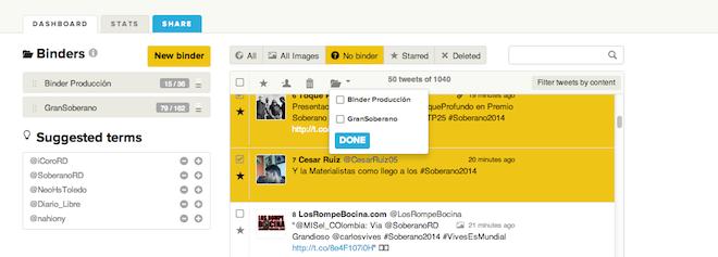 Clasificacion-Tuits-Binders-TweetBinder-Ver-Medir-Hashtags
