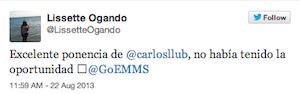 Testimonio-Charla-Analitica-Web-Social-EMMS-Dominicana-ago-2013-Lissette-Ogando