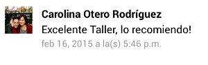 Testimonio-10mo-Taller-Redes-Sociales-Santo-Domingo-mar-2015-Carolina-Otero