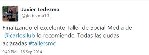 Testimonio-6to-Taller-Redes-Sociales-Santo-Domingo-sep-2014-Javier-Ledezma