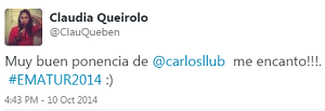 Testimonio-Congreso-Marketing-Online-Turistico-EMATUR-Lima-Peru-Publicidad-oct-2014-Digital-Claudia-Queirolo