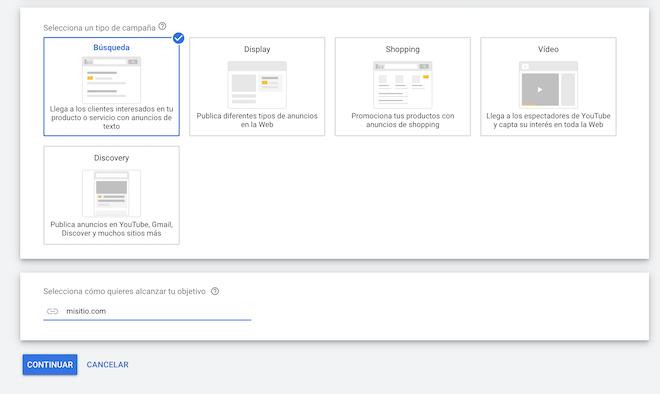 Escoger-Campana-Google-Ads-Buscador