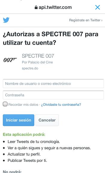 Campana-Publicidad-Digital-Anuncio-Twitter-Spectre-autorizar-App