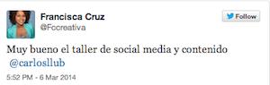 3er TallerSMC-Redes-Sociales-Santo-Domingo-Francisca-Cruz