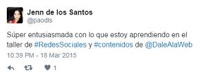 Testimonio-10mo-Taller-Redes-Sociales-Santo-Domingo-mar-2015-Jenn-de-los-Santos