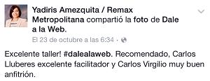 Testimonio-14vo-Taller-Redes-Sociales-Santo-Domingo-oct-2015-Yadiris-Amezquita