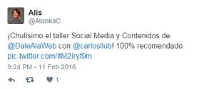 Testimonio-15vo-Taller-Redes-Sociales-Santo-Domingo-feb-2016-Alaiska-Cuevas