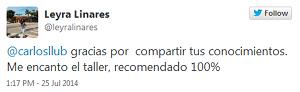 Testimonio-5to-Taller-Redes-Sociales-Santo-Domingo-jul-2014-Leyra-Linares