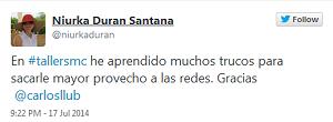 Testimonio-5to-Taller-Redes-Sociales-Santo-Domingo-jul-2014-Niurka-Duran