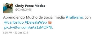 Testimonio-7mo-Taller-Redes-Sociales-Santo-Domingo-oct-2014-Cindy-Perez