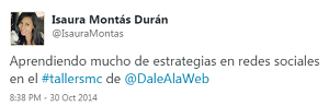Testimonio-7mo-Taller-Redes-Sociales-Santo-Domingo-oct-2014-Isaura-Montas