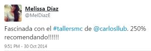 Testimonio-7mo-Taller-Redes-Sociales-Santo-Domingo-oct-2014-Melissa-Diaz