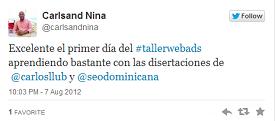Testimonio-Carlsand-Nina-Taller-Publicidad-Online-Santo-Domingo-2012