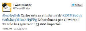 Testimonio-Charla-Analitica-Web-Social-EMMS-Dominicana-ago-2013-TweetBinder