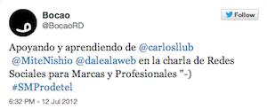 Testimonio-Charla-Marketing-Online-Profesionales-Telecomunicaciones-jul-2012-BocaoRD