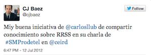 Testimonio-Charla-Marketing-Online-Profesionales-Telecomunicaciones-jul-2012-Cesar-Baez