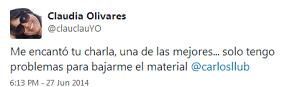 Testimonio-Community-Management-Forum-2014-Lima-Peru-Charla-Analitica-Redes-Sociales-Claudia-Olivares