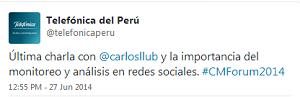 Testimonio-Community-Management-Forum-2014-Lima-Peru-Charla-Analitica-Redes-Sociales-Telefonica-Peru