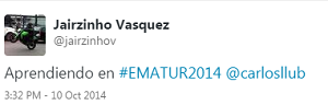 Testimonio-Congreso-Marketing-Online-Turistico-EMATUR-Lima-Peru-Publicidad-oct-2014-Digital-Jairzinho-Vasquez