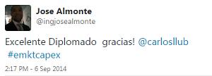 Testimonio-Diplomado-Marketing-Online-CAPEX-Santiago-Caballeros-ago-2015-Jose-Almonte