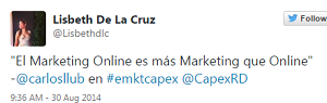 Testimonio-Diplomado-Marketing-Online-CAPEX-Santiago-Caballeros-ago-2015-Lisbeth-DelaCruz