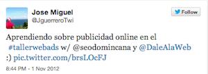 Testimonio-Taller-Publicidad-Online-Santo-Domingo-nov-2012-Jose-Miguel-Guerrero