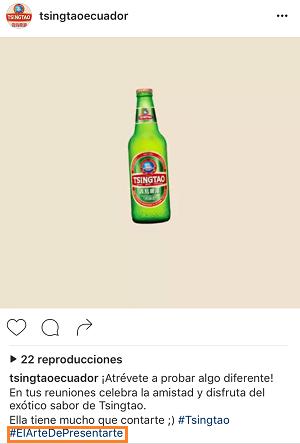 Ejemplo-Hashtag-Marcas-Instagram-Campana-Tsingtao-
