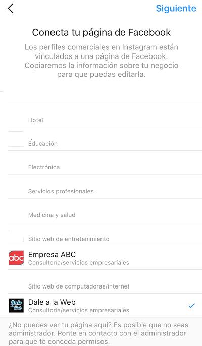 Convertir-perfil-empresa-negocios-compania-Instagram-Escoger-Facebook-04